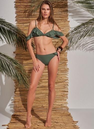 Morhipo Beach Fırfır Detaylı Bikini Haki